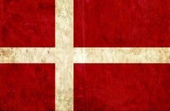 Grungy document vlag van Denemarken royalty-vrije illustratie