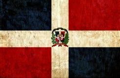 Grungy document vlag van Dominicaanse Republiek royalty-vrije illustratie