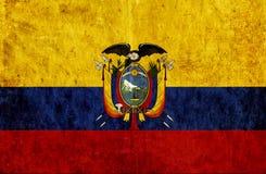 Grungy document vlag van Ecuador stock illustratie