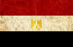 Grungy document vlag van Egypte vector illustratie