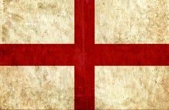 Grungy document vlag van Engeland stock illustratie