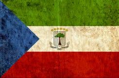Grungy document vlag van Equatoriaal-Guinea stock illustratie
