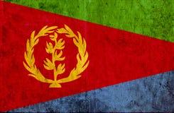 Grungy document vlag van Eritrea vector illustratie