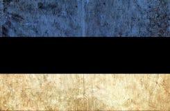 Grungy document vlag van Estland vector illustratie