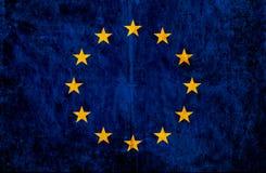 Grungy document vlag van Europese Unie royalty-vrije illustratie