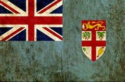Grungy document vlag van Fiji royalty-vrije illustratie