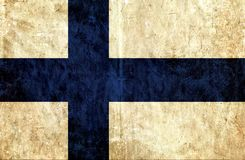 Grungy document vlag van Finland stock illustratie