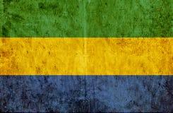 Grungy document vlag van Gabon stock illustratie