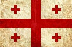 Grungy document vlag van Georgië royalty-vrije illustratie