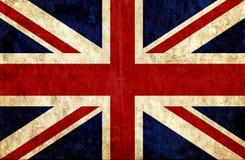Grungy document vlag van Groot-Brittannië stock illustratie
