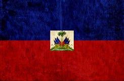 Grungy document vlag van Haïti royalty-vrije illustratie