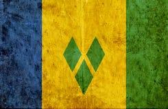 Grungy document vlag van Heilige Vincent en Grenadines vector illustratie