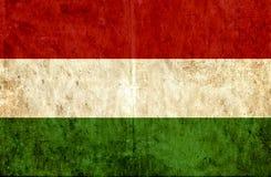 Grungy document vlag van Hongarije royalty-vrije illustratie