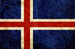 Grungy document vlag van IJsland vector illustratie