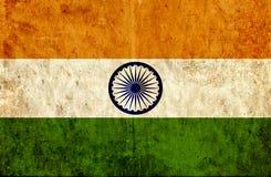 Grungy document vlag van India vector illustratie