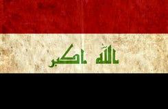 Grungy document vlag van Irak stock illustratie