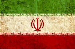 Grungy document vlag van Iran vector illustratie