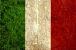 Grungy document vlag van Italië stock illustratie