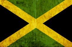 Grungy document vlag van Jamaïca vector illustratie