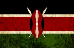 Grungy document vlag van Kenia stock illustratie
