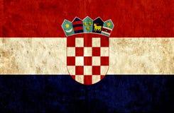 Grungy document vlag van Kroatië vector illustratie
