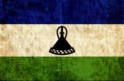 Grungy document vlag van Lesotho royalty-vrije illustratie