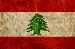Grungy document vlag van Libanon royalty-vrije illustratie