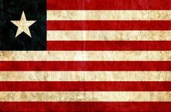 Grungy document vlag van Liberia stock illustratie