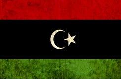 Grungy document vlag van Libië royalty-vrije illustratie