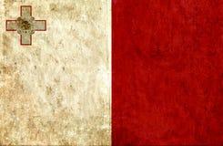 Grungy document vlag van Malta royalty-vrije illustratie