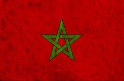 Grungy document vlag van Marokko royalty-vrije illustratie