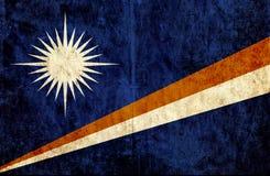 Grungy document vlag van Marshall Islands royalty-vrije illustratie