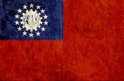 Grungy document vlag van Myanmar stock illustratie