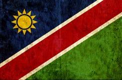 Grungy document vlag van Namibië royalty-vrije illustratie