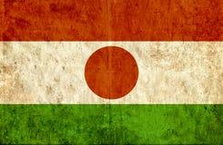 Grungy document vlag van Niger vector illustratie