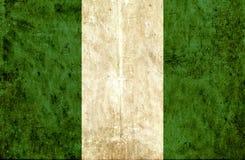 Grungy document vlag van Nigeria vector illustratie