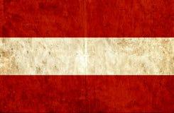 Grungy document vlag van Oostenrijk royalty-vrije illustratie