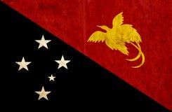 Grungy document vlag van Papoea-Nieuw-Guinea royalty-vrije illustratie