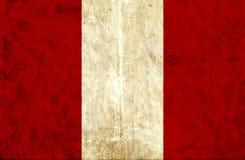 Grungy document vlag van Peru stock illustratie
