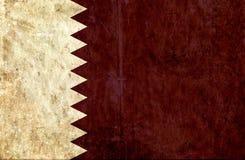 Grungy document vlag van Qatar stock illustratie