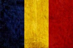 Grungy document vlag van Roemenië royalty-vrije illustratie