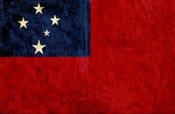 Grungy document vlag van Samoa royalty-vrije illustratie