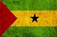 Grungy document vlag van Sao Tomé en Pricnipe vector illustratie