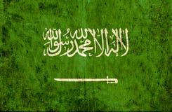 Grungy document vlag van Saudi-Arabië vector illustratie