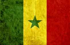 Grungy document vlag van Senegal vector illustratie