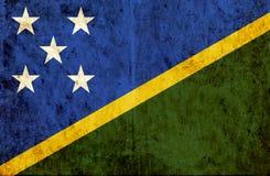 Grungy document vlag van Solomon Islands vector illustratie
