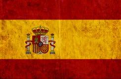 Grungy document vlag van Spanje stock illustratie