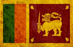 Grungy document vlag van Sri Lanka royalty-vrije illustratie