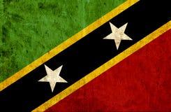Grungy document vlag van St. Kitts.and.Nevis stock illustratie