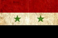 Grungy document vlag van Syrië stock illustratie
